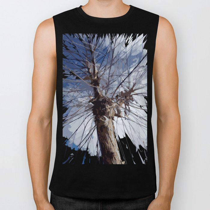 Autumn Tree Biker Tank