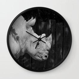 Rhino Portrait Wall Clock