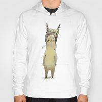 llama Hoodies featuring Llama by Paola Zakimi