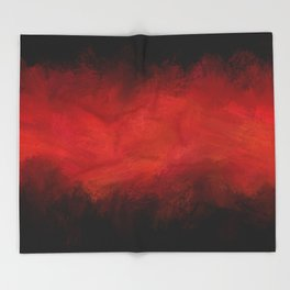 Abstract Red Black Dark Matter Throw Blanket