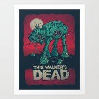 Walker's Dead V2 Art Print