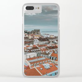 Rooftops of Lisbon Clear iPhone Case