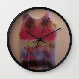 Rainbow-Spray Graffiti Art Print. Wall Clock