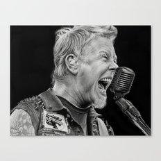 Charcoal Portrait of James . Hetfield Canvas Print