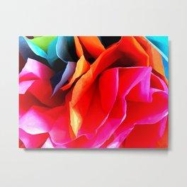Paper Flower Metal Print
