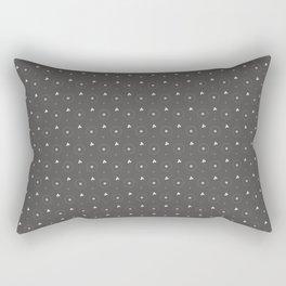 Pantone Pewter and white Polka Dots Circle Pattern Rectangular Pillow