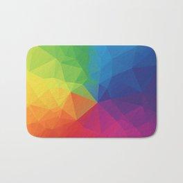 Rainbow Geometric Shapes Bath Mat