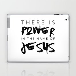 There Is Power In The Name Of Jesus - White Laptop & iPad Skin