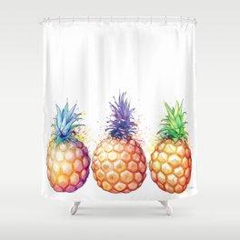 Three Pineapples Shower Curtain