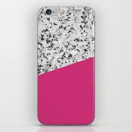 Granite and Pink Yarrow Color iPhone Skin