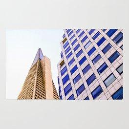 pyramid building and modern building at San Francisco, USA Rug