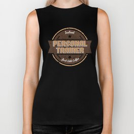 This Instant Personal Trainer Just Add Coffee  Funny Gift Idea Biker Tank