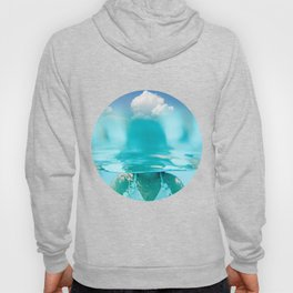 Little girl in water, with clouds Hoody