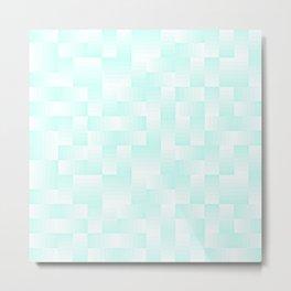 Sky Blue Geo Pattern Metal Print