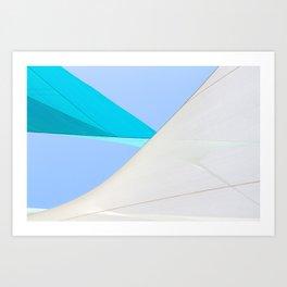 Abstract Sailcloth c1 Art Print