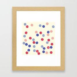 WATERCOLOR CONFETTI Framed Art Print