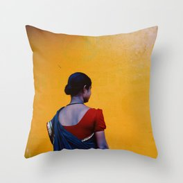 Red, Blue and Yellow Throw Pillow