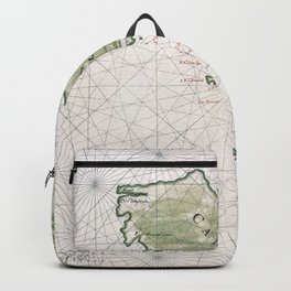 Old Map Of California Island Backpack