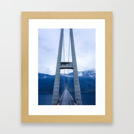 Hardanger Bridge on the Hardanger Fjord, Norway Framed Art Print