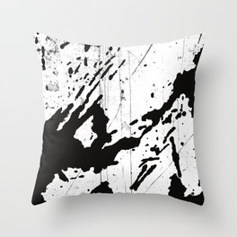 Black and white world Throw Pillow