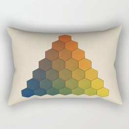 Lichtenberg-Mayer Colour Triangle (Opera inedita - Vol. I, plate III), 1775, Remake, vintage wash Rectangular Pillow
