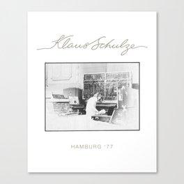 Klaus Schulze Hamburg '77 Canvas Print