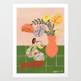Tory´s flowers Art Print