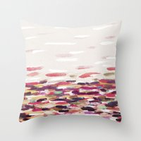 river Throw Pillows featuring River by Georgiana Paraschiv