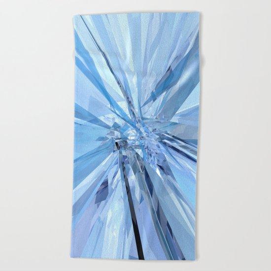 Blue Crystals Beach Towel