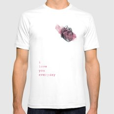 i_love_you_everyday Mens Fitted Tee SMALL White