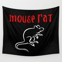 rat Wall Tapestries featuring Mouse Rat by Evelyn Gonzalez
