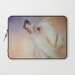 Wind In Her Hair - Chinese Crested Hairless Dog Laptop Sleeve