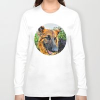 megan lara Long Sleeve T-shirts featuring Dog Lara by itsme23