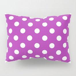 Polka Dots (White & Purple Pattern) Pillow Sham