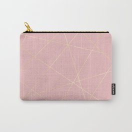 Blush pink & gold Carry-All Pouch