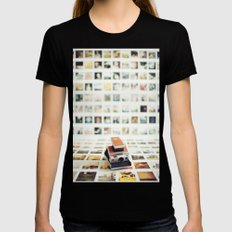 Polaroid Wall MEDIUM Black Womens Fitted Tee