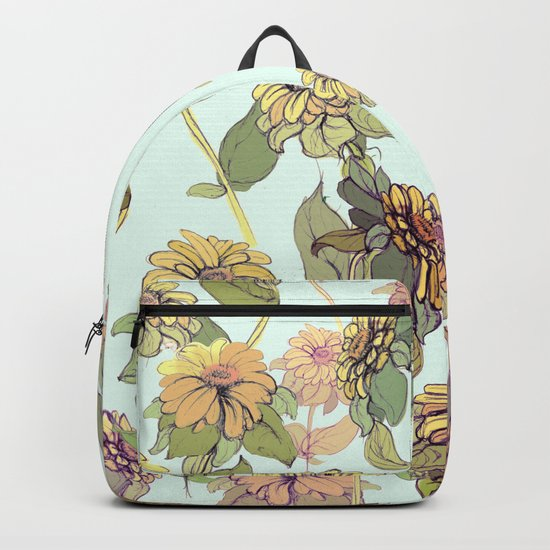 sun flowers in nature Backpack