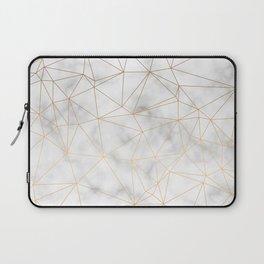 Marble Gold Geometric Texture Laptop Sleeve