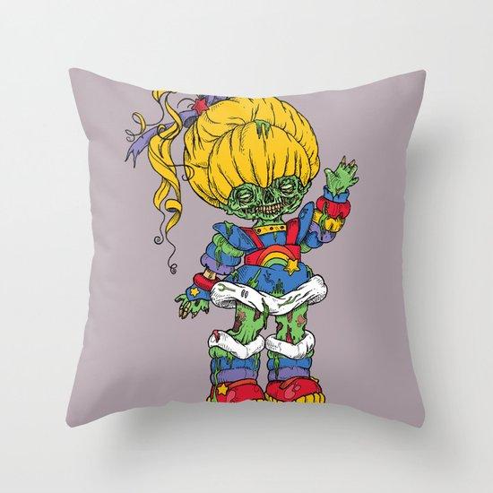Zombie Brite Throw Pillow