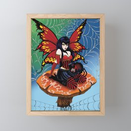Along Came a Spider Framed Mini Art Print