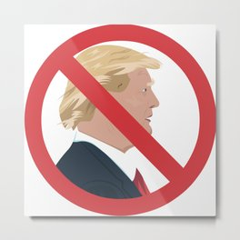 No Trump Sign Metal Print