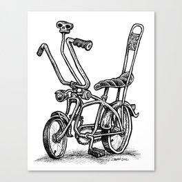 Skull Shifter Muscle Bike - Cartoon Retro Mod Stingray Bicycle Rat Rod Canvas Print