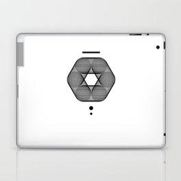 Mesh Geometry III White Laptop & iPad Skin