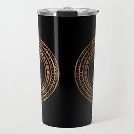 Save the Drama For Yo' Llama (Copper on Black) Travel Mug