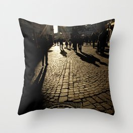 Trier Street Scene Throw Pillow