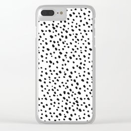 Black Dots on White by Minikuosi Clear iPhone Case