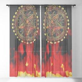 Stoner Doom Sheer Curtain