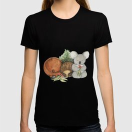 Native Australian Animal Babies – With Koala, Wombat And Echidna T-shirt