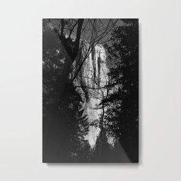 Waterfall through the Trees Metal Print