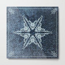 Eastlake Snowflake ~ Blue Metal Print